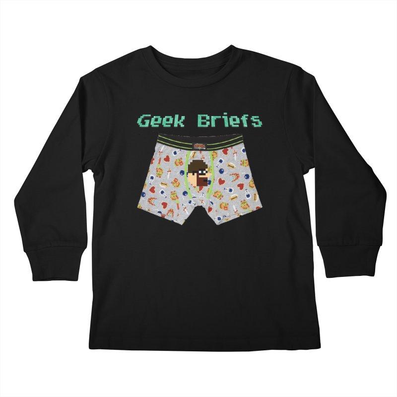 Geek Briefs Kids Longsleeve T-Shirt by DrinkIN GeekOUT's Artist Shop