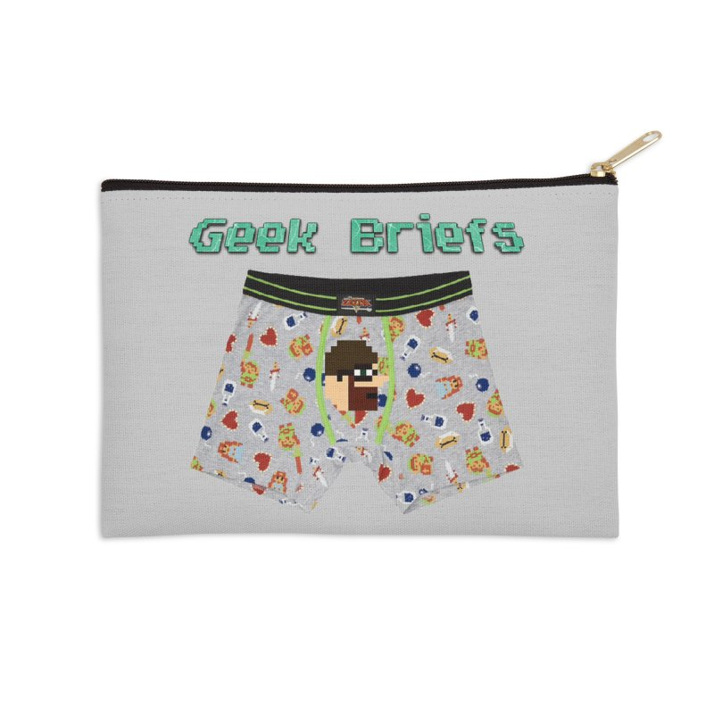 Geek Briefs Accessories Zip Pouch by DrinkIN GeekOUT's Artist Shop
