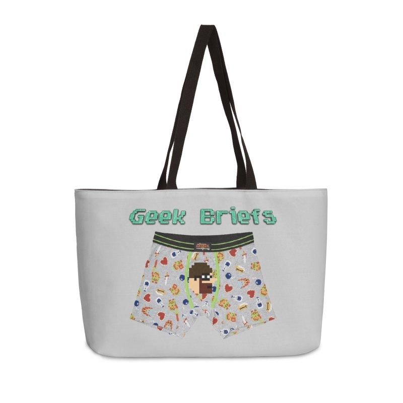 Geek Briefs Accessories Weekender Bag Bag by DrinkIN GeekOUT's Artist Shop