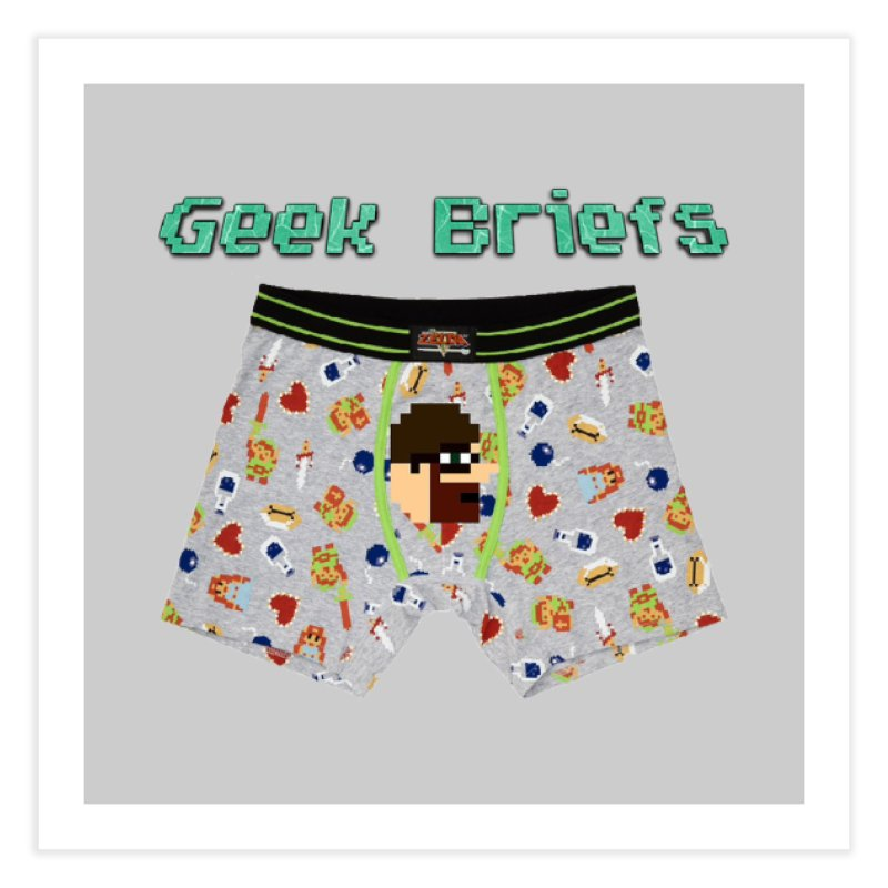 Geek Briefs Home Fine Art Print by DrinkIN GeekOUT's Artist Shop