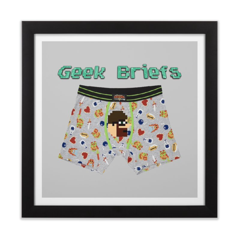 Geek Briefs Home Framed Fine Art Print by DrinkIN GeekOUT's Artist Shop