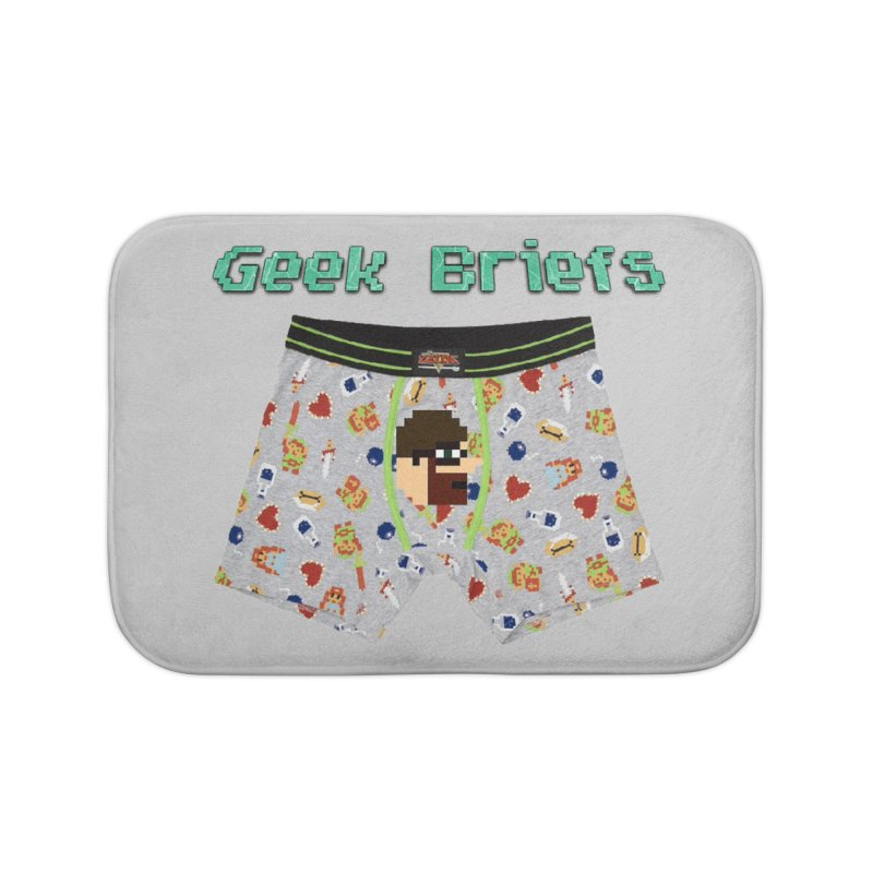 Geek Briefs Home Bath Mat by DrinkIN GeekOUT's Artist Shop