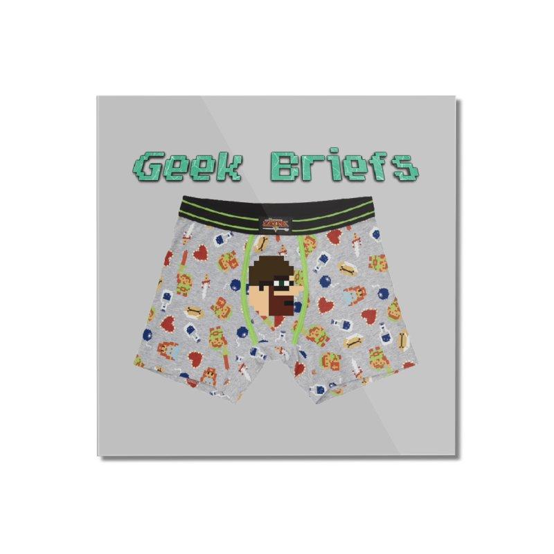 Geek Briefs Home Mounted Acrylic Print by DrinkIN GeekOUT's Artist Shop