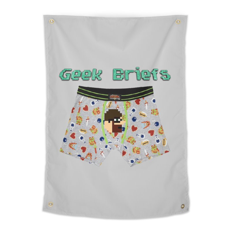 Geek Briefs Home Tapestry by DrinkIN GeekOUT's Artist Shop