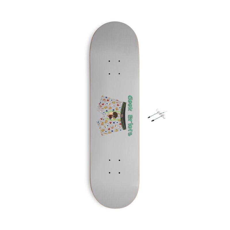 Geek Briefs Accessories With Hanging Hardware Skateboard by DrinkIN GeekOUT's Artist Shop
