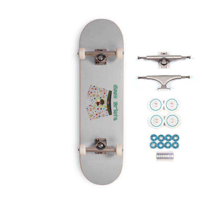Geek Briefs Accessories Skateboard by DrinkIN GeekOUT's Artist Shop
