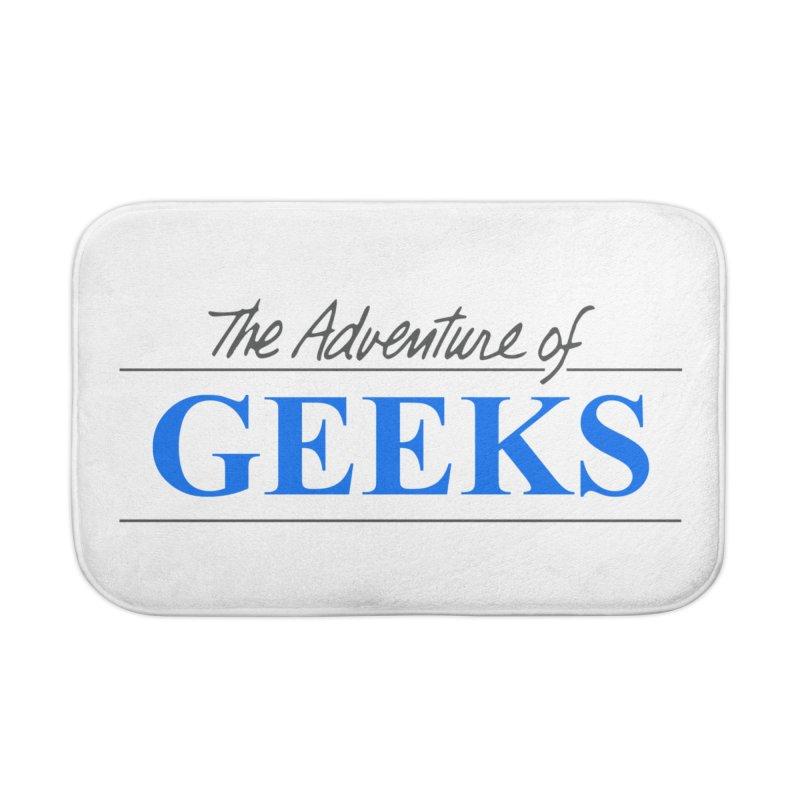 The Adventure of Geeks Home Bath Mat by DrinkIN GeekOUT's Artist Shop