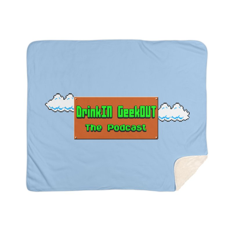 DiGo Clouds Home Sherpa Blanket Blanket by DrinkIN GeekOUT's Artist Shop