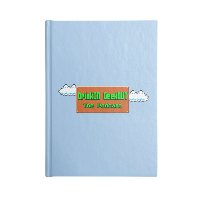 DiGo Clouds Accessories Lined Journal Notebook by DrinkIN GeekOUT's Artist Shop