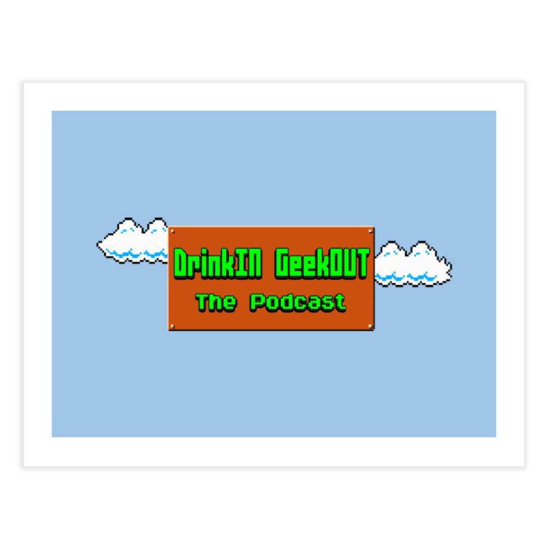 DiGo Clouds Home Fine Art Print by DrinkIN GeekOUT's Artist Shop