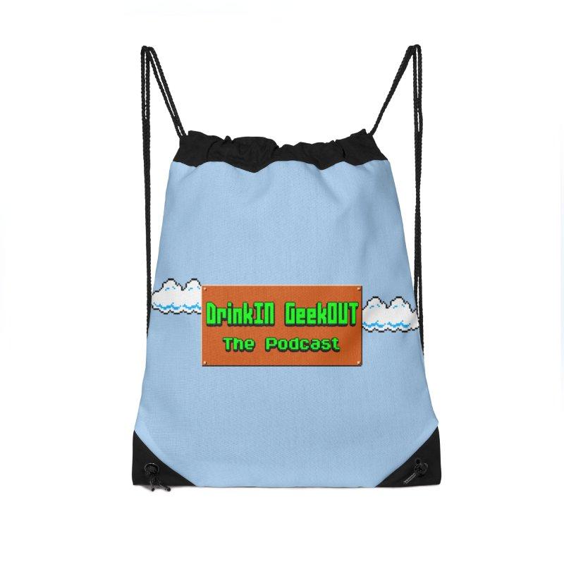 DiGo Clouds Accessories Drawstring Bag Bag by DrinkIN GeekOUT's Artist Shop