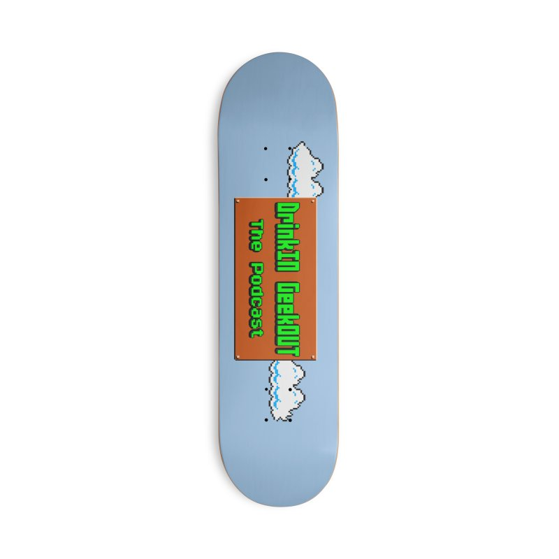 DiGo Clouds Accessories Deck Only Skateboard by DrinkIN GeekOUT's Artist Shop