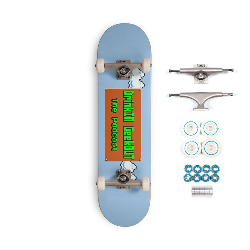 DiGo Clouds Accessories Skateboard by DrinkIN GeekOUT's Artist Shop