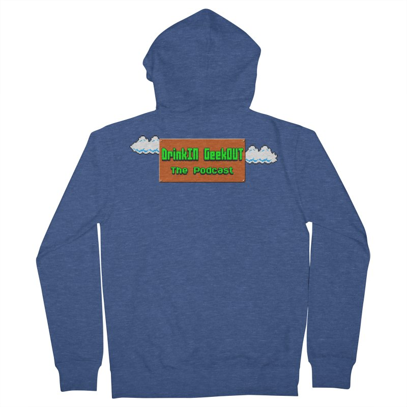 DiGo Clouds Women's French Terry Zip-Up Hoody by DrinkIN GeekOUT's Artist Shop