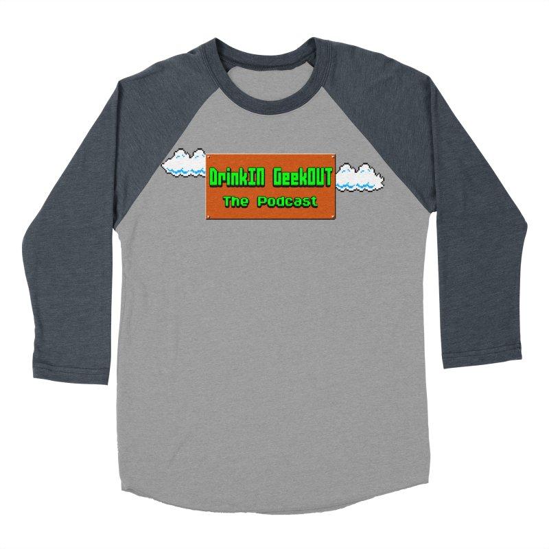 DiGo Clouds Women's Baseball Triblend Longsleeve T-Shirt by DrinkIN GeekOUT's Artist Shop