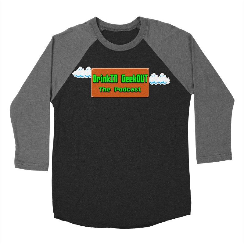 DiGo Clouds Men's Baseball Triblend Longsleeve T-Shirt by DrinkIN GeekOUT's Artist Shop