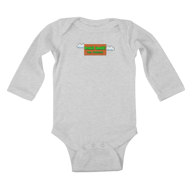 DiGo Clouds Kids Baby Longsleeve Bodysuit by DrinkIN GeekOUT's Artist Shop