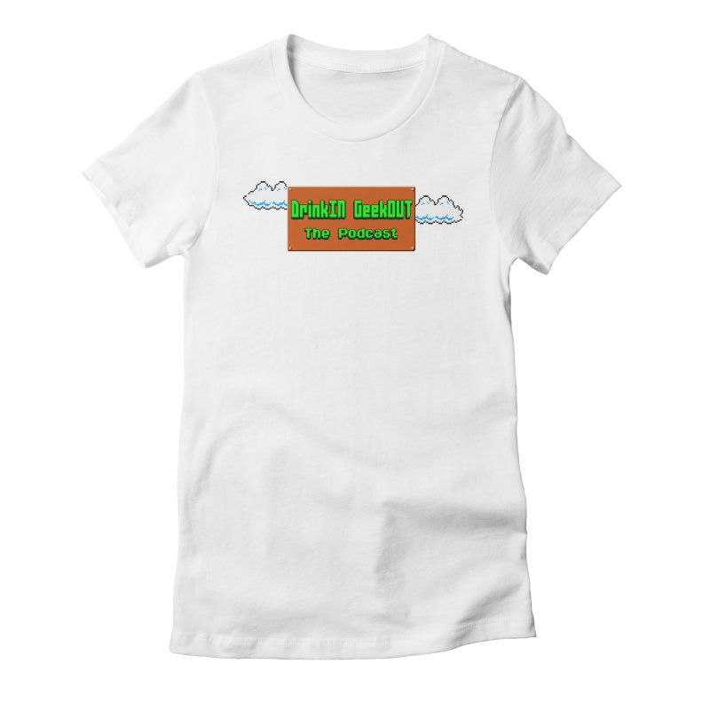 DiGo Clouds Women's Fitted T-Shirt by DrinkIN GeekOUT's Artist Shop