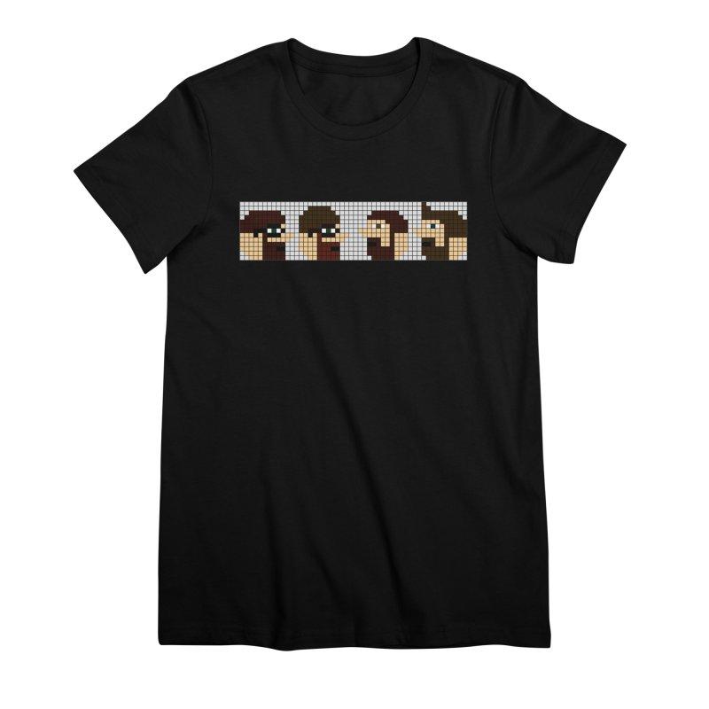 8 Bit Heads Women's Premium T-Shirt by DrinkIN GeekOUT's Artist Shop