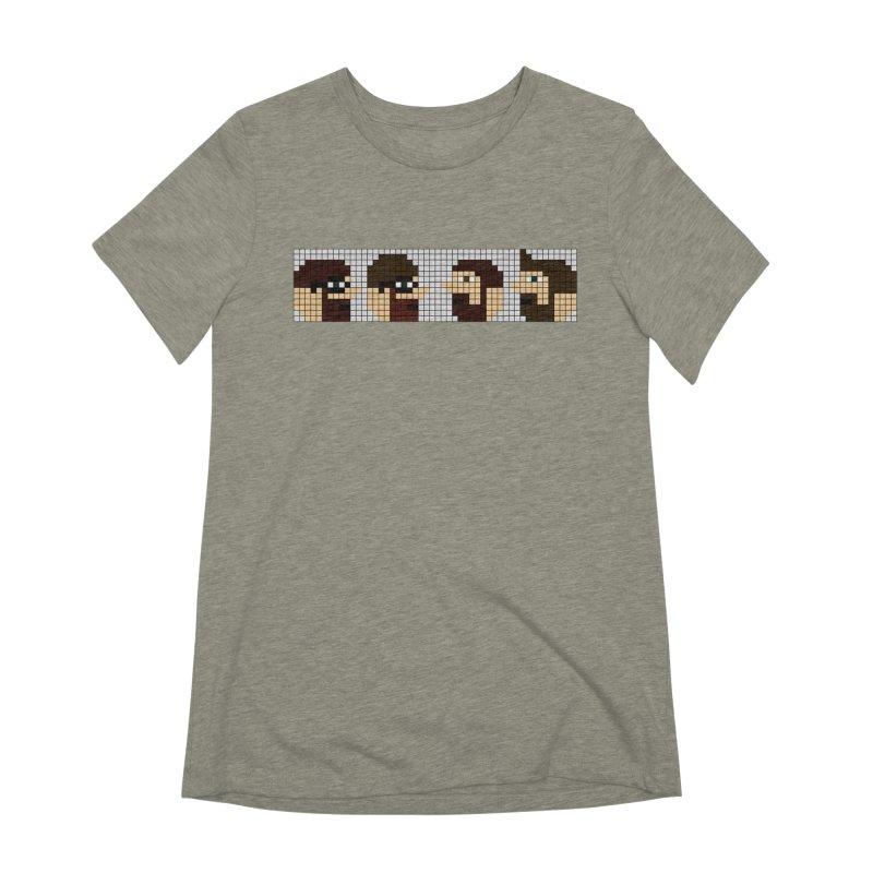 8 Bit Heads Women's Extra Soft T-Shirt by DrinkIN GeekOUT's Artist Shop