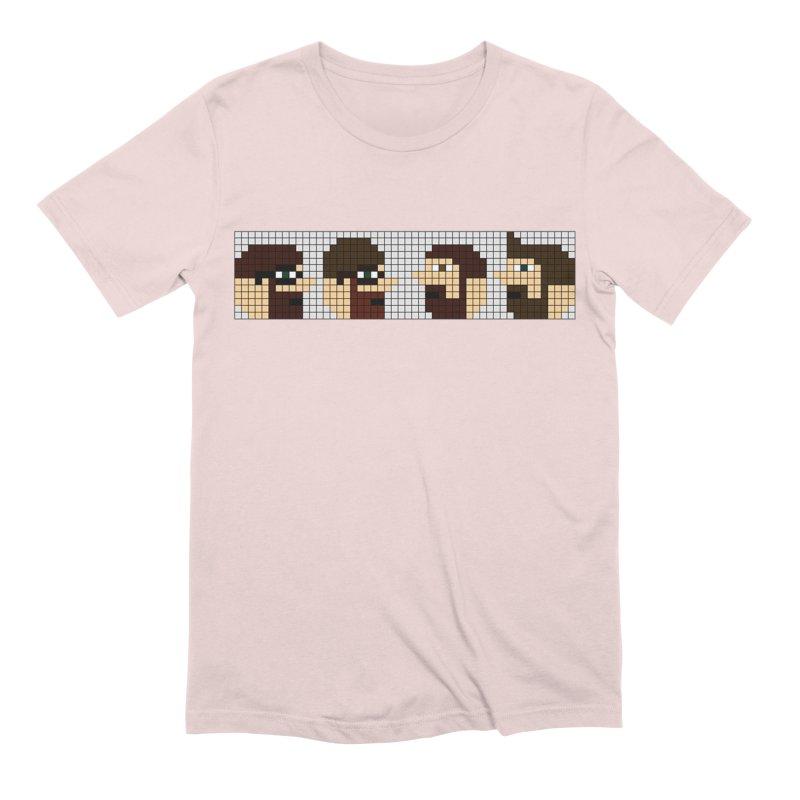 8 Bit Heads Men's Extra Soft T-Shirt by DrinkIN GeekOUT's Artist Shop