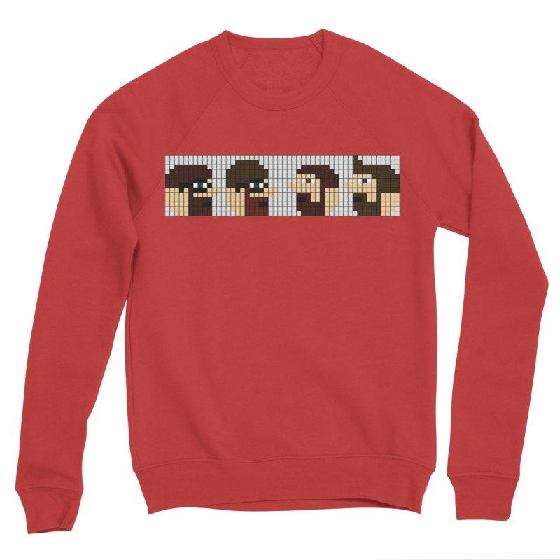 8 Bit Heads Men's Sponge Fleece Sweatshirt by DrinkIN GeekOUT's Artist Shop
