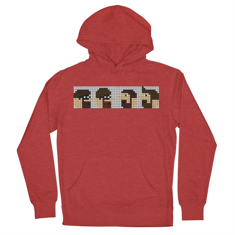 8 Bit Heads Men's French Terry Pullover Hoody by DrinkIN GeekOUT's Artist Shop