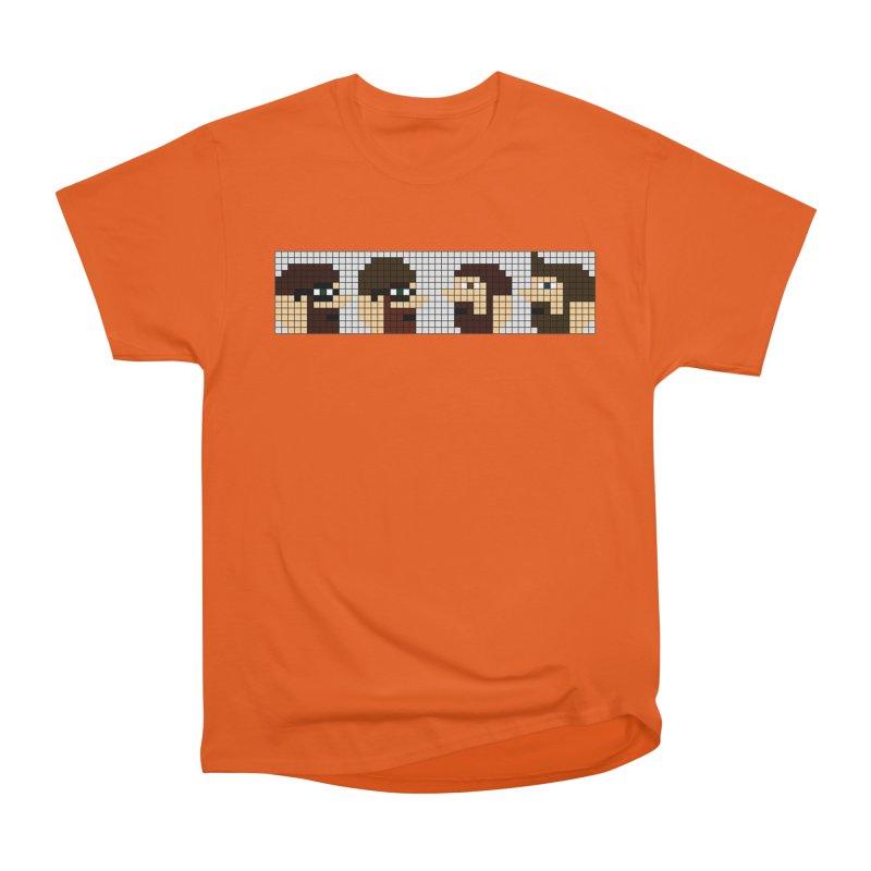 8 Bit Heads Men's Heavyweight T-Shirt by DrinkIN GeekOUT's Artist Shop