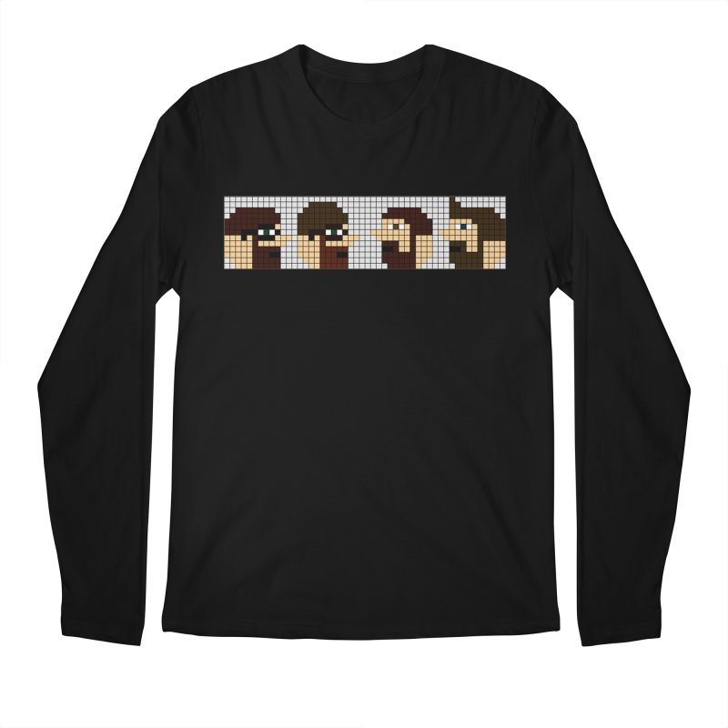 8 Bit Heads Men's Regular Longsleeve T-Shirt by DrinkIN GeekOUT's Artist Shop