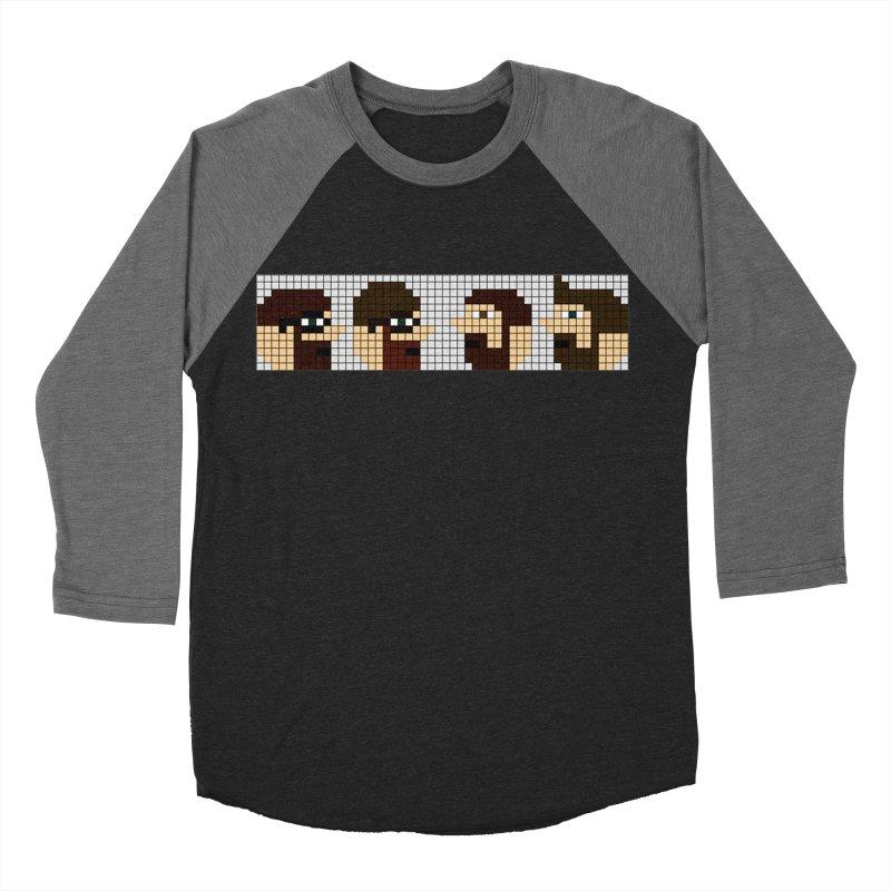 8 Bit Heads Women's Baseball Triblend Longsleeve T-Shirt by DrinkIN GeekOUT's Artist Shop
