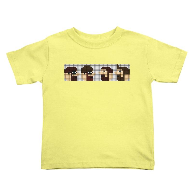 8 Bit Heads Kids Toddler T-Shirt by DrinkIN GeekOUT's Artist Shop