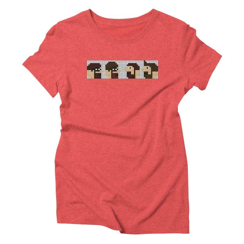 8 Bit Heads Women's Triblend T-Shirt by DrinkIN GeekOUT's Artist Shop