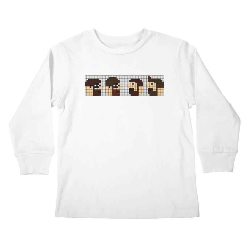 8 Bit Heads Kids Longsleeve T-Shirt by DrinkIN GeekOUT's Artist Shop
