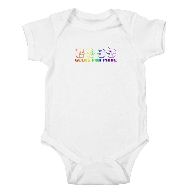 Geeks For Pride 2019 Kids Baby Bodysuit by DrinkIN GeekOUT's Artist Shop