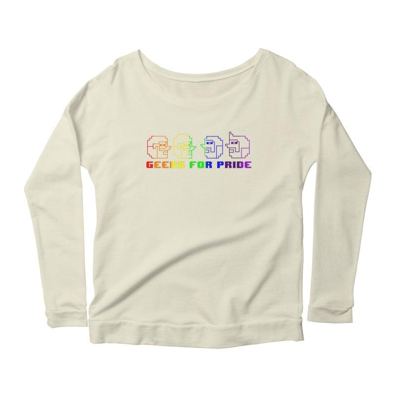 Geeks For Pride 2019 Women's Scoop Neck Longsleeve T-Shirt by DrinkIN GeekOUT's Artist Shop