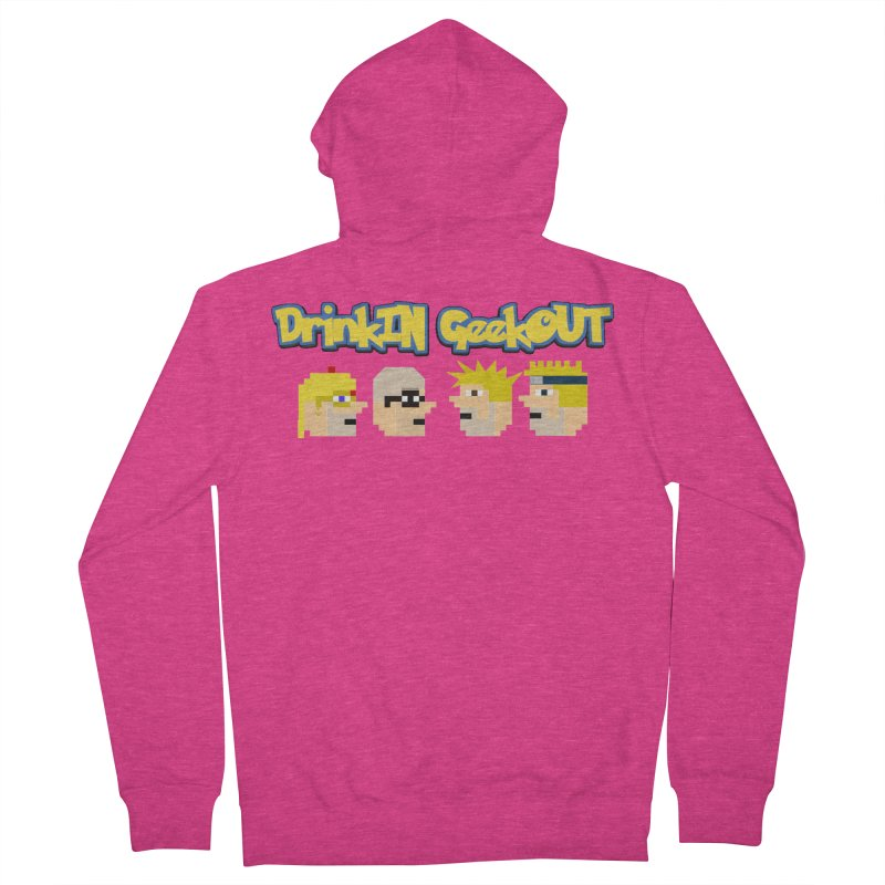 Anime DiGo Women's French Terry Zip-Up Hoody by DrinkIN GeekOUT's Artist Shop