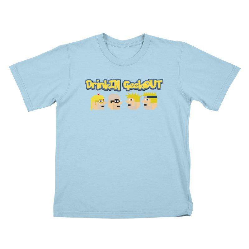 Anime DiGo Kids T-Shirt by DrinkIN GeekOUT's Artist Shop