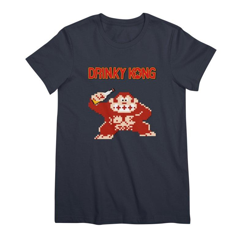 Drinky Kong Women's Premium T-Shirt by DrinkIN GeekOUT's Artist Shop