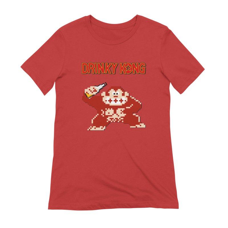 Drinky Kong Women's Extra Soft T-Shirt by DrinkIN GeekOUT's Artist Shop