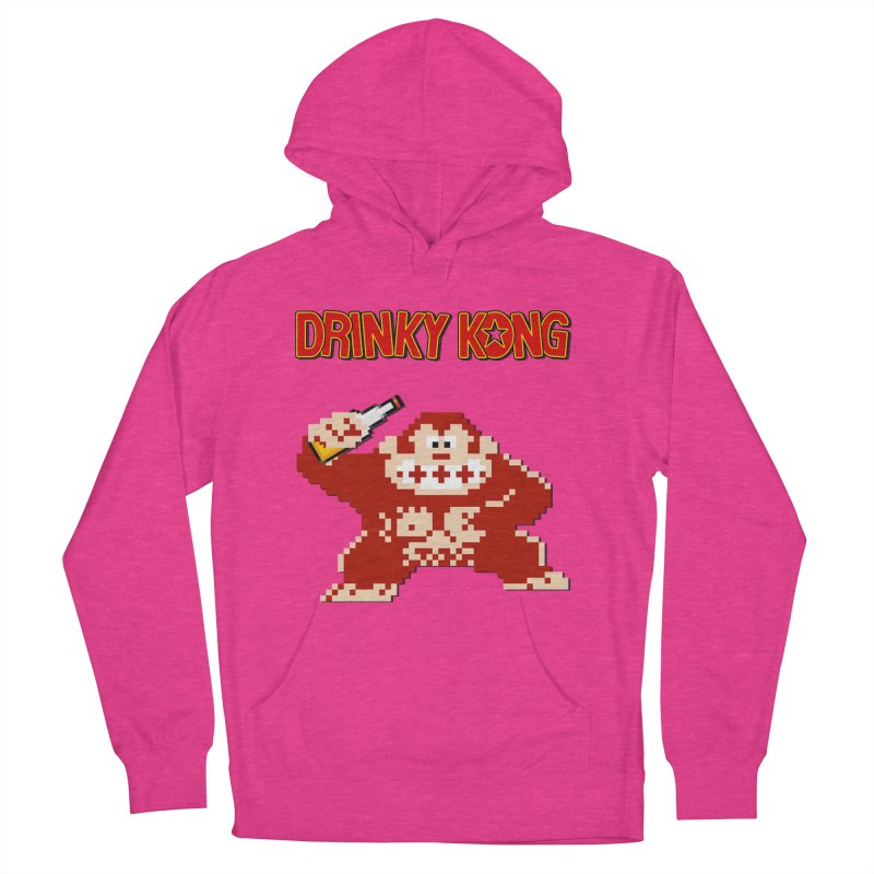 Drinky Kong Men's French Terry Pullover Hoody by DrinkIN GeekOUT's Artist Shop
