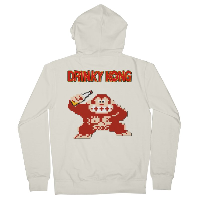 Drinky Kong Women's French Terry Zip-Up Hoody by DrinkIN GeekOUT's Artist Shop