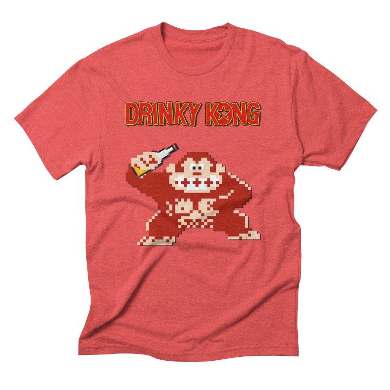 Drinky Kong Men's Triblend T-Shirt by DrinkIN GeekOUT's Artist Shop