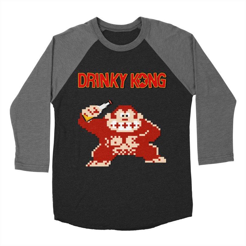 Drinky Kong Men's Baseball Triblend Longsleeve T-Shirt by DrinkIN GeekOUT's Artist Shop