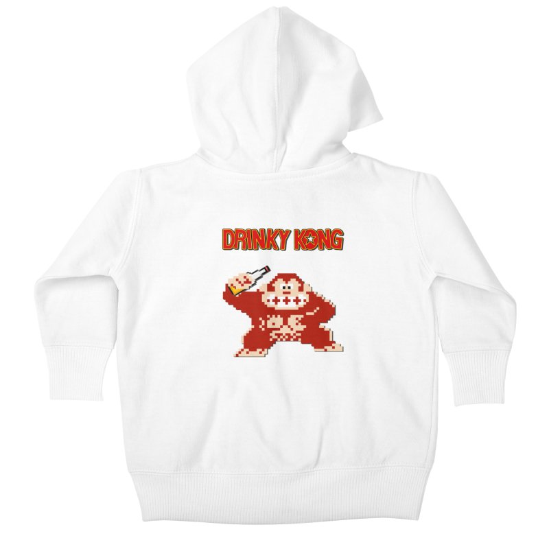 Drinky Kong Kids Baby Zip-Up Hoody by DrinkIN GeekOUT's Artist Shop