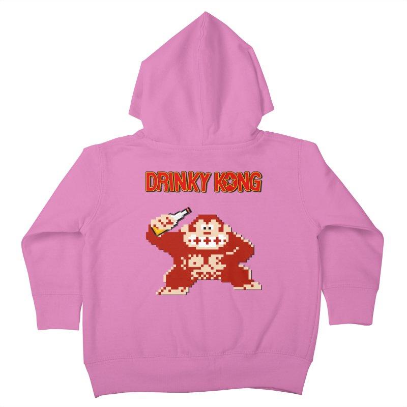 Drinky Kong Kids Toddler Zip-Up Hoody by DrinkIN GeekOUT's Artist Shop