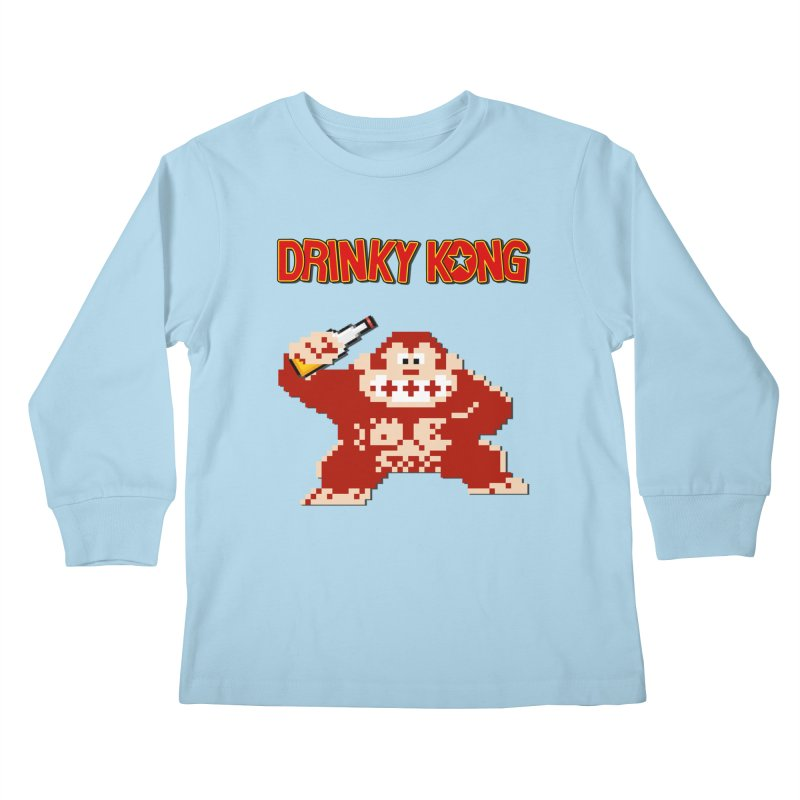Drinky Kong Kids Longsleeve T-Shirt by DrinkIN GeekOUT's Artist Shop