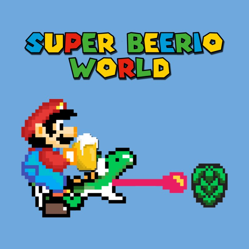 Super Beerio World Men's T-Shirt by DrinkIN GeekOUT's Artist Shop