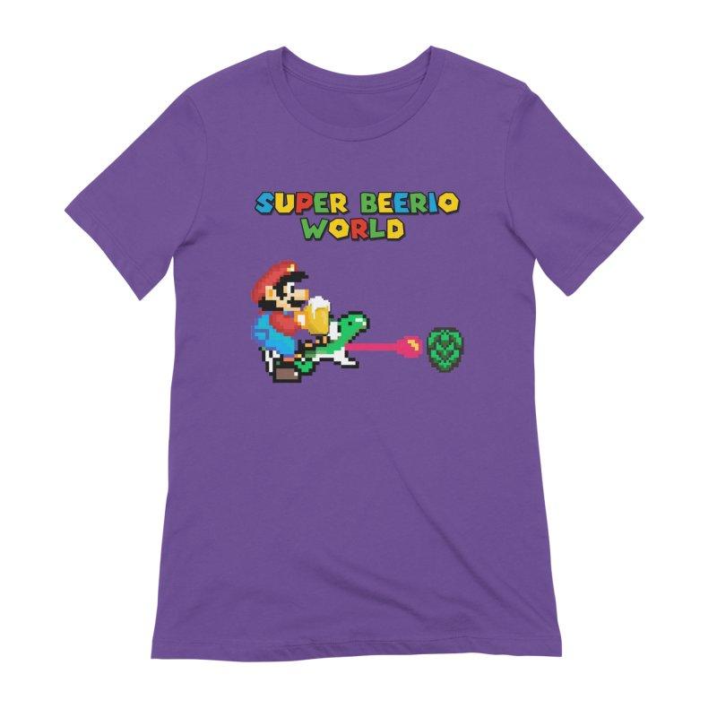 Super Beerio World Women's Extra Soft T-Shirt by DrinkIN GeekOUT's Artist Shop
