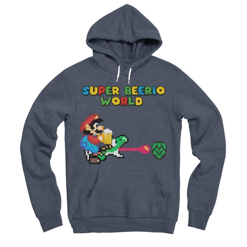 Super Beerio World Men's Sponge Fleece Pullover Hoody by DrinkIN GeekOUT's Artist Shop
