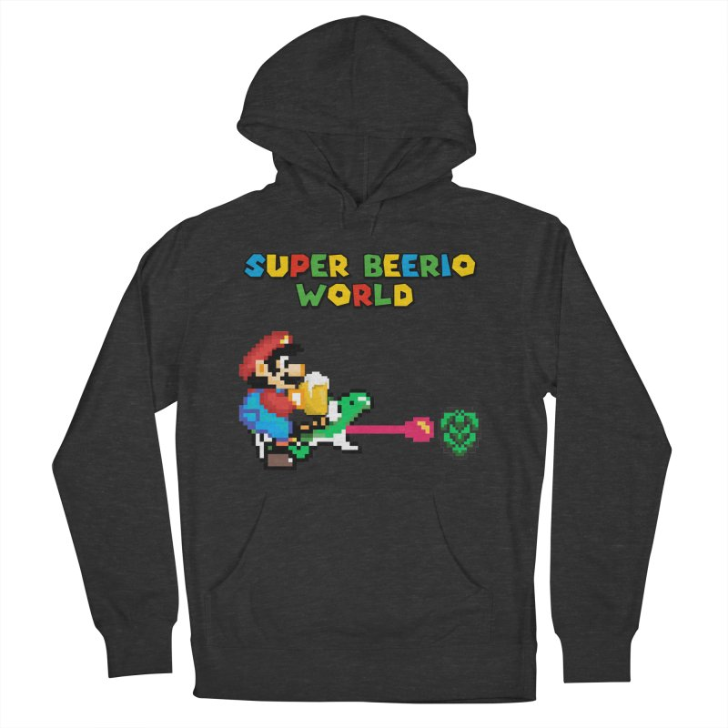 Super Beerio World Men's French Terry Pullover Hoody by DrinkIN GeekOUT's Artist Shop